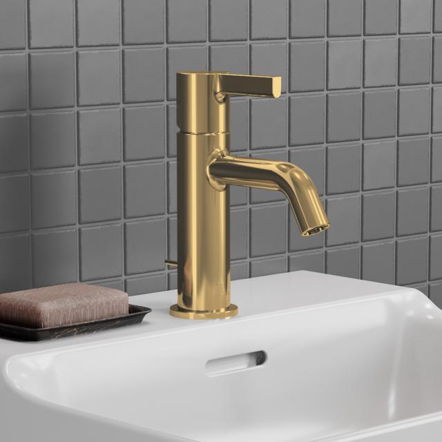 Ideal Standard Joy Waschtischarmatur brushed gold, mit Ablaufgarnitur
