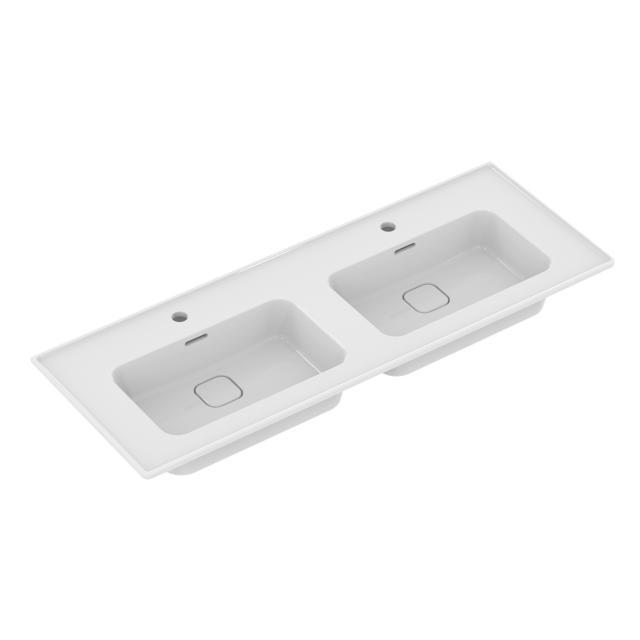 Ideal Standard Strada II Doppel-Möbelwaschtisch weiß, mit Ideal Plus, mit 2 Hahnlöchern