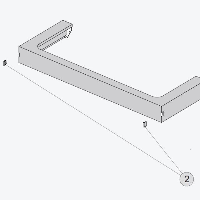 Ideal Standard Tonic II Abdeckkappe für Griffloch, 2 Stück hellgrau