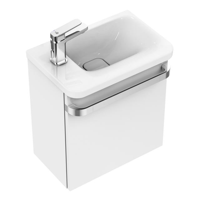 Ideal Standard Tonic II Handwaschbecken mit Waschtischunterschrank mit 1 Tür weiß, mit Ideal Plus, ohne Überlauf