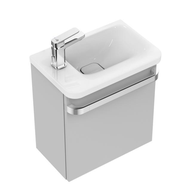 Ideal Standard Tonic II Handwaschbeckenunterschrank mit 1 Tür Front hellgrau hochglanz/ Korpus hellgrau hochglanz