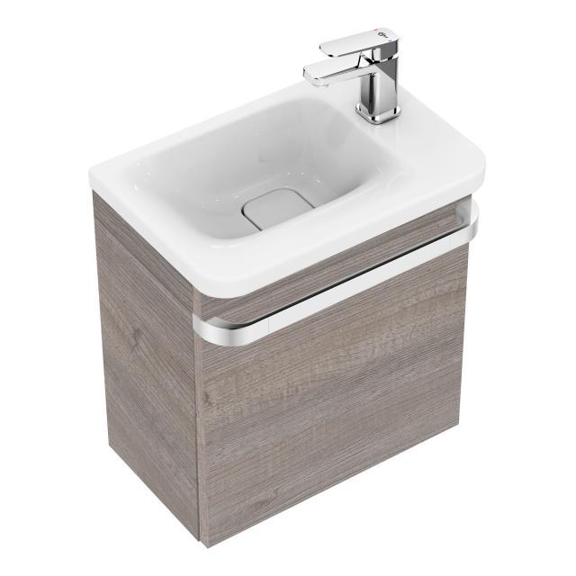 Ideal Standard Tonic II Handwaschbeckenunterschrank mit 1 Tür Front eiche grau dekor/ Korpus eiche grau dekor