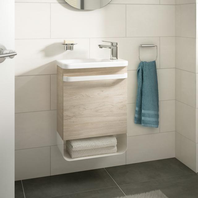 Ideal Standard Tonic II Handwaschbeckenunterschrank mit 1 Tür Front pinie hell dekor/ Korpus pinie hell dekor
