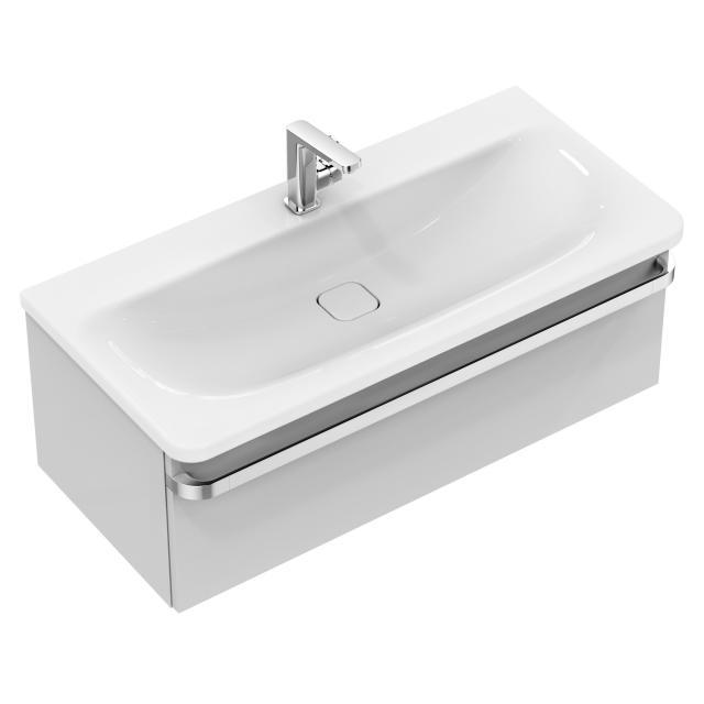 Ideal Standard Tonic II Waschtischunterschrank mit 1 Auszug Front hellgrau hochglanz/ Korpus hellgrau hochglanz