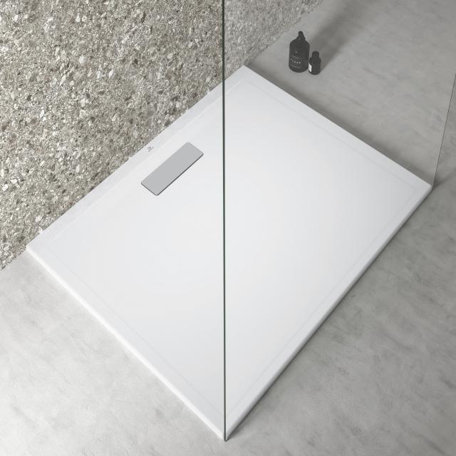 Ideal Standard Ultra Flat New Rechteck-Duschwanne Komplett-Set weiß