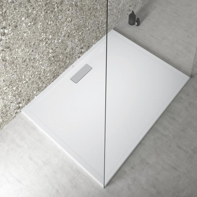 Ideal Standard Ultra Flat New Rechteck-Duschwanne Komplett-Set seidenweiß
