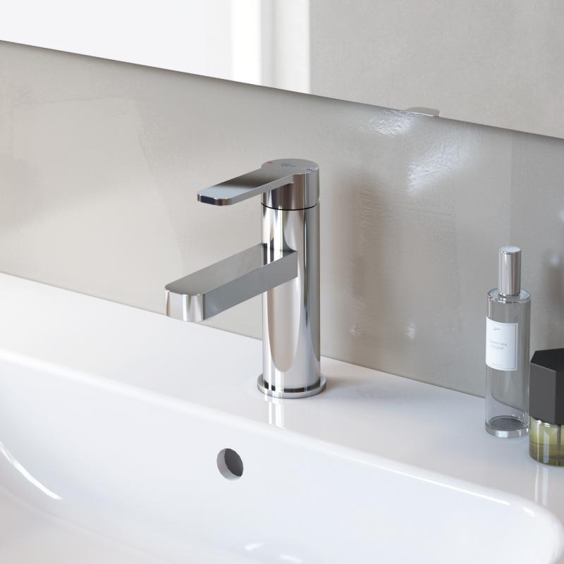 ideal standard gio einhebel waschtischarmatur mit duchflussbegrenzer ohne ablaufgarnitur. Black Bedroom Furniture Sets. Home Design Ideas