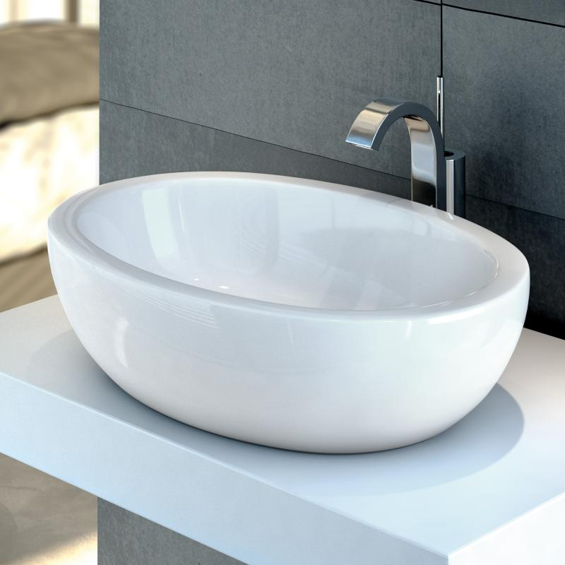 Aufsatzwaschbecken oval mit unterschrank  Aufsatzwaschbecken » Aufsatzwaschtisch kaufen bei REUTER