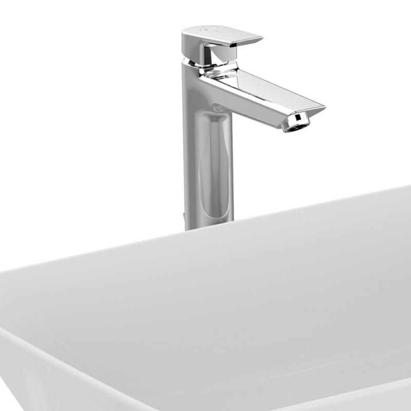 ideal standard tesi einhebel waschtischarmatur mit verl ngertem sockel mit ablaufgarnitur. Black Bedroom Furniture Sets. Home Design Ideas