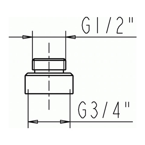 Jado Adapter für AP-Armaturen chrom
