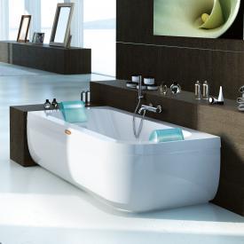 Jacuzzi AQUASOUL DOUBLE Eck-Whirlpool mit Verkleidung, Einbau links ohne integrierten Wassereinlauf, mit Rainbow + Clean System