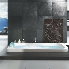 Jacuzzi AQUASOUL Eckeinbau-Whirlpool ohne Verkleidung, Eckeinbau links weiß, ohne integrierten Wassereinlauf, mit Rainbow + Clean System