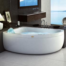 Jacuzzi AQUASOUL OFFSET Eck-Whirlpool mit Verkleidung, Einbau links ohne integrierten Wassereinlauf, mit Rainbow