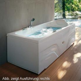 Jacuzzi Hexis Rechteck Whirlpool L: 180 B: 80 H: 57 cm, Schwalleinlauf, Wannenarmatur Ausführung Links
