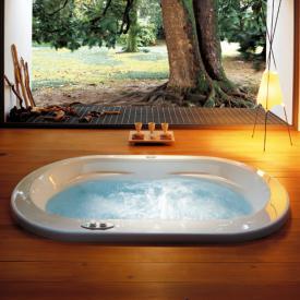 Jacuzzi Opalia Oval Whirlpool L: 190 B: 110 H: 60 cm, Schwalleinlauf u. Wannenarmatur Whirlpool, Ab- und Überlaufgarnitur, Fußgestell