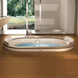 Jacuzzi Opalia Oval Whirlpool L: 190 B: 110 H: 63 cm, Holzverkleidung u. Wannenarmatur Teak