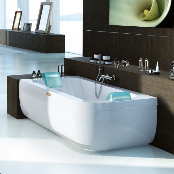 Jacuzzi AQUASOUL DOUBLE Eck-Whirlpool mit Verkleidung, Einbau links ohne integrierten Wassereinlauf, mit Rainbow