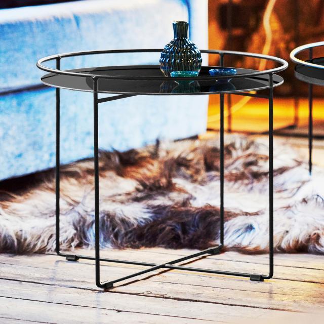 Jan Kurtz Clock Beistelltisch, Glas