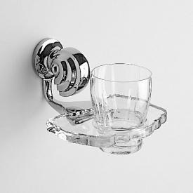 Jörger Muschel Glashalter komplett chrom