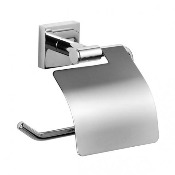 Jörger Charleston Square Toilettenpapierhaltern mit Deckel chrom