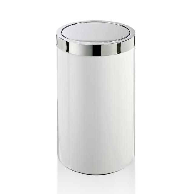 JOOP! CHROMELINE Wäschebehälter chrom/weiß