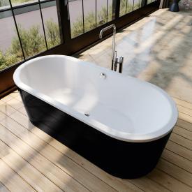 Kaldewei Classic Duo Oval Freistehende Oval-Badewanne weiß, Schürze schwarz