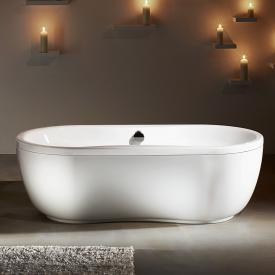 Kaldewei Mega Duo Oval Freistehende Badewanne mit Verkleidung weiß Perl-Effekt