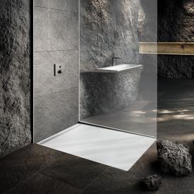 Kaldewei Nexsys Bodenebene Duschfläche Komplett-Set weiß mit Perl-Effekt, mit ultraflachem Ablauf