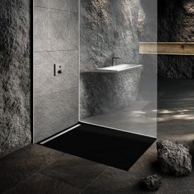 Kaldewei Nexsys Bodenebene Duschfläche schwarz, mit Perl-Effekt