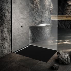 Kaldewei Nexsys Bodenebene Duschfläche Komplett-Set Secure Plus, city anthrazit matt, mit ultraflachem Ablauf