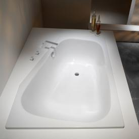 Kaldewei Plaza Duo Links Eck-Badewanne weiß Perl-Effekt