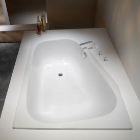 Kaldewei Plaza Duo Raumspar-Badewanne weiß mit Perl-Effekt