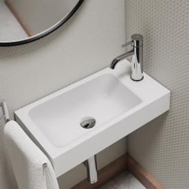 Kaldewei Puro Handwaschbecken weiß matt, mit 1 Hahnloch