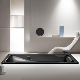 Kaldewei Puro & Puro Star Rechteck-Badewanne mit seitlichem Überlauf Antislip, schwarz