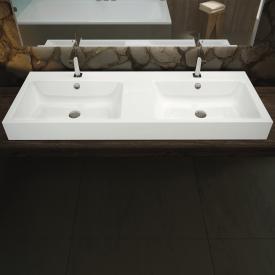 Kaldewei Puro Wand-Doppelwaschtisch mit 2 Hahnlöchern