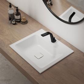 Kaldewei Set Cono Einbauwaschtisch mit Steinberg 260 Armatur weiß/schwarz matt