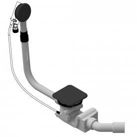 Kaldewei Spezial Ab- und Überlaufgarnitur mit Füllfunktion für Conoduo & Incava lavaschwarz matt