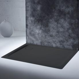 Kaldewei SuperPlan Plus Rechteck-Duschwanne lavaschwarz matt