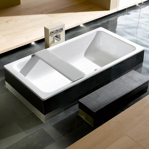Kaldewei Bassino Rechteck-Badewanne mit Front- und Seitenverkleidung Links weiß