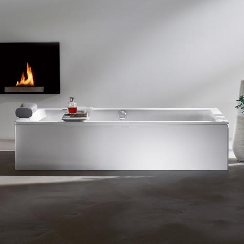 Kaldewei Bassino Freistehende Rechteck-Badewanne mit Verkleidung weiß