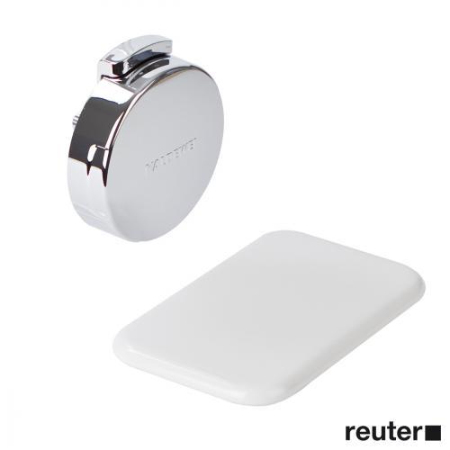 Kaldewei Comfort-Level Ab- und Überlaufgarnitur für Asymmetric Duo, Komplett-Set weiß