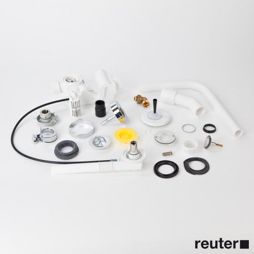 Kaldewei Comfort-Level Plus Ab-und Überlaufgarnitur für Centro & Ellipso Duo, Komplett-Set weiß