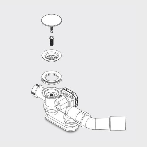 Kaldewei Comfort Select 4502 Ab- und Überlaufgarnitur für elektronische Armatur