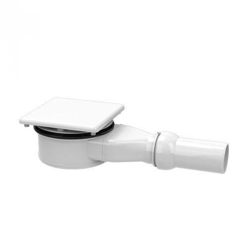 Kaldewei Conoflat KA 120 (Mod. 4091)  Spezial-Ablaufgarnitur waagerecht weiß