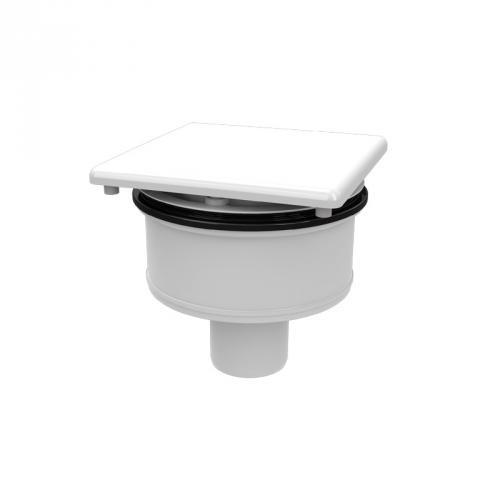 Kaldewei Conoflat KA 120 (Mod. 4093) Spezial-Ablaufgarnitur senkrecht weiß