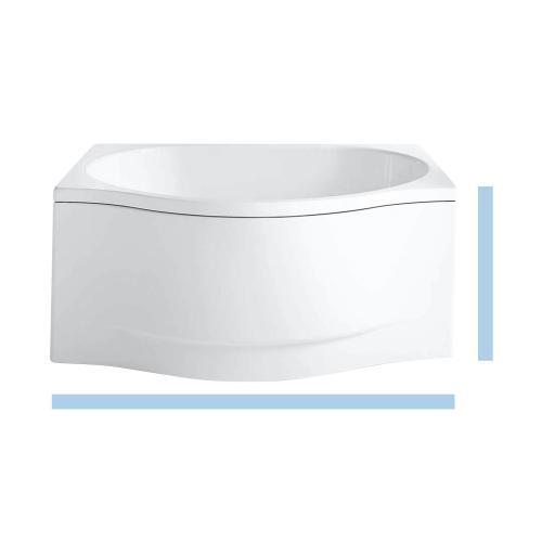 Kaldewei Duo Pool Sonderform-Badewanne mit Front- und Seitenverkleidung Rechts weiß