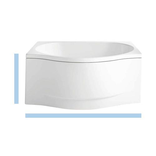 Kaldewei Duo Pool Sonderform-Badewanne mit Front- und Seitenverkleidung Links weiß