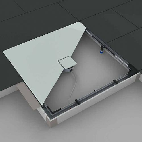 kaldewei einbau system rahmen esr ii f r duschwannen viertelkreis arrondo 584574440000 reuter. Black Bedroom Furniture Sets. Home Design Ideas