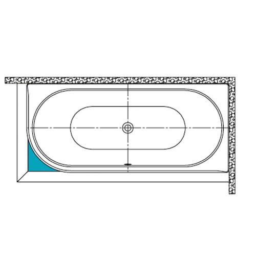 Kaldewei Füllstück für Rechteckige Badewanne Mod. 129/130, Centro Duo 1 li/re