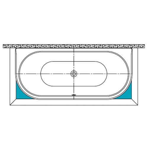 Kaldewei Füllstücke für Sonderform-Badewanne Mod. 131, Centro Duo 2